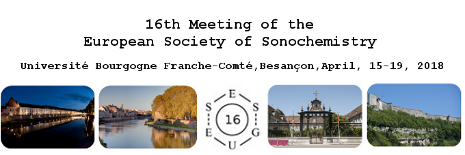 INSPIRE @ 16th Meeting of the European Society of Sonochemistry